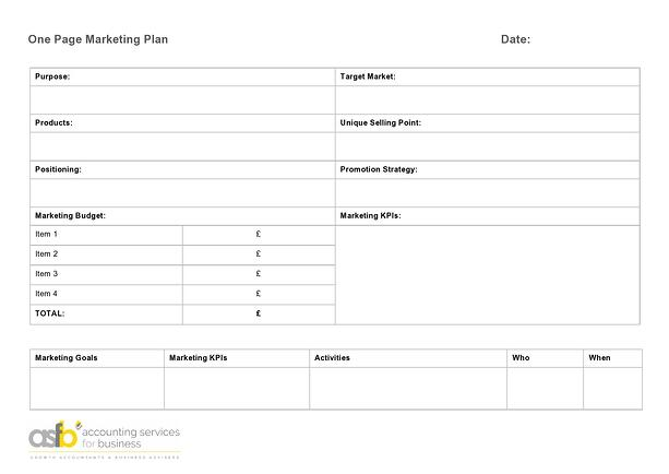 One Page Marketing Plan - ASfB-page0001